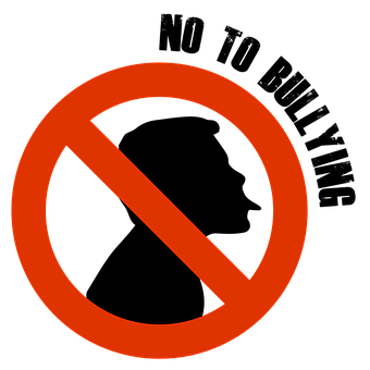a Not To Bullying sign