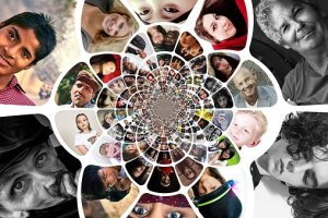 Multiple pictures of diverse people
