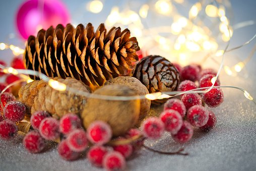 pine cones in a dish
